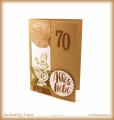 """Glückwunschkarte 70er Geburtstag """"Kraft der Natur"""""""
