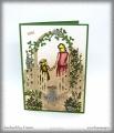 Dankeskarte Frau und Kind