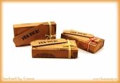 Kleine Matchbox für Schokoladentäfelchen